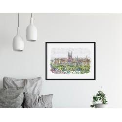 Plakat Panorama Pragi...