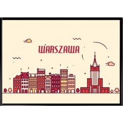 PLAKAT WARSZAWA - A3 na ścianę!